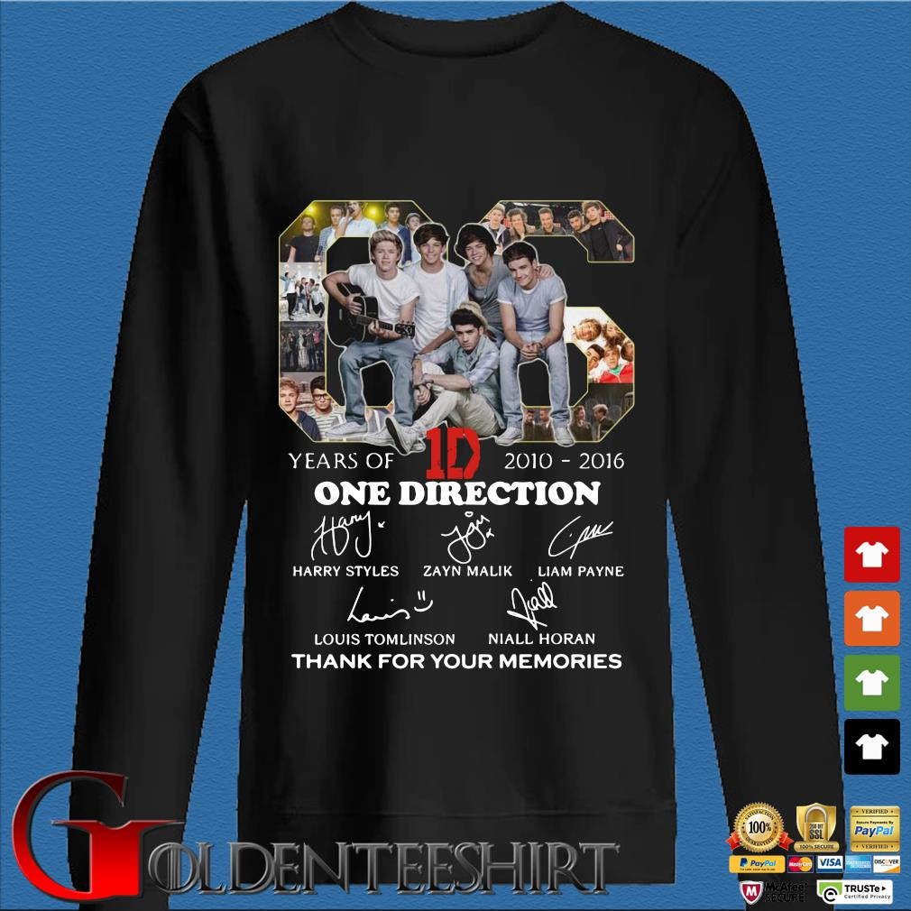 06 years of 1D 2010 2016 One Direction signatures thank you for the memories Den Sweater