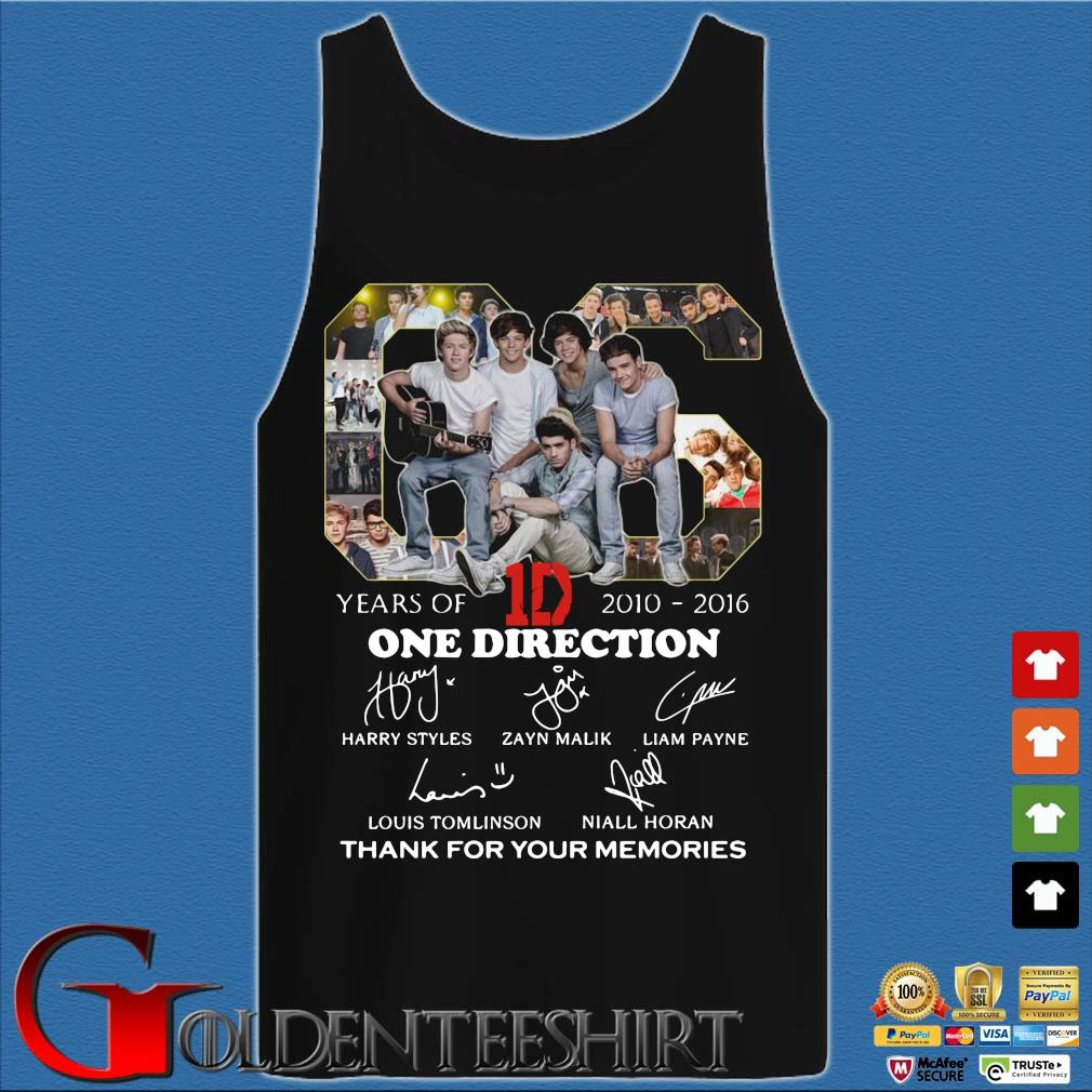 06 years of 1D 2010 2016 One Direction signatures thank you for the memories Tank top den