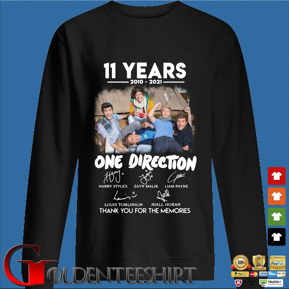 11 years 2010 2021 One Direction signatures thank you for the memories Den Sweater