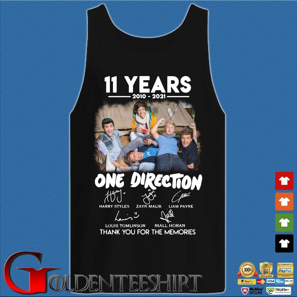 11 years 2010 2021 One Direction signatures thank you for the memories Tank top den