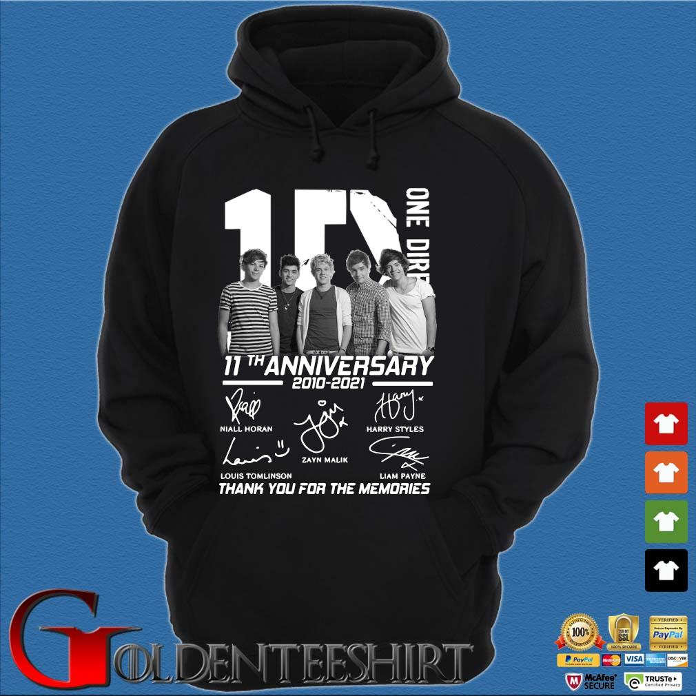 1D one Direction 11th anniversary 2010 2021 signatures thank you for the memories Hoodie đen