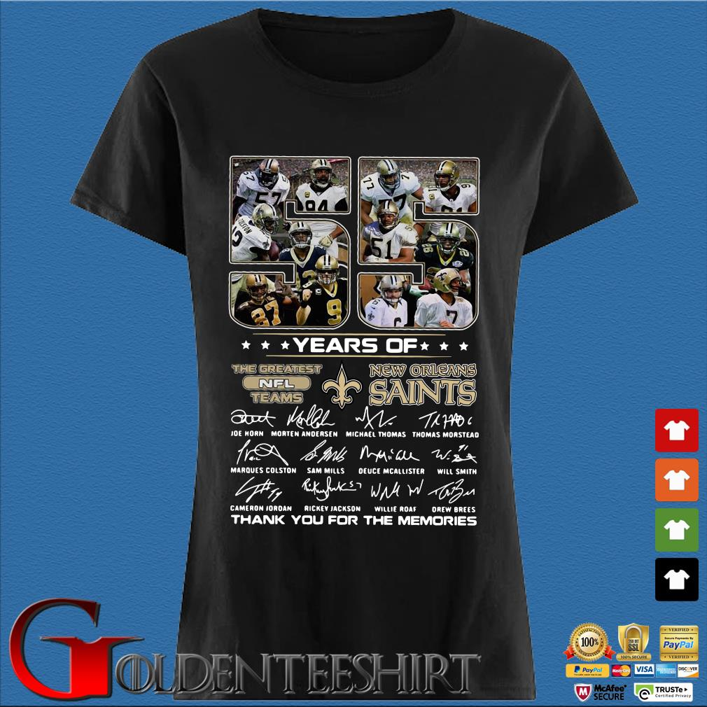 55 years of New Orleans Saints the greatest NFL teams thank you for the memories signatures Den Ladies