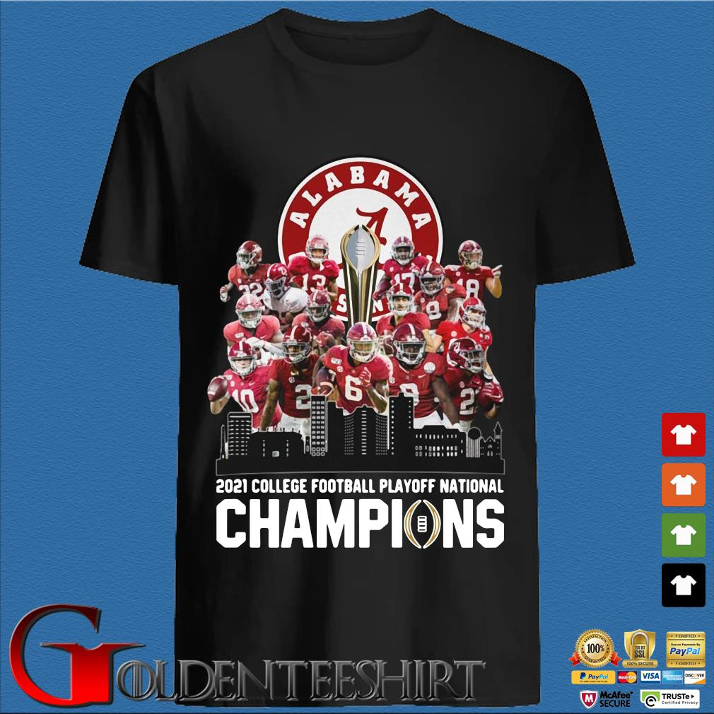 Alabama Crimson 2021 college football playoff national champions shirt