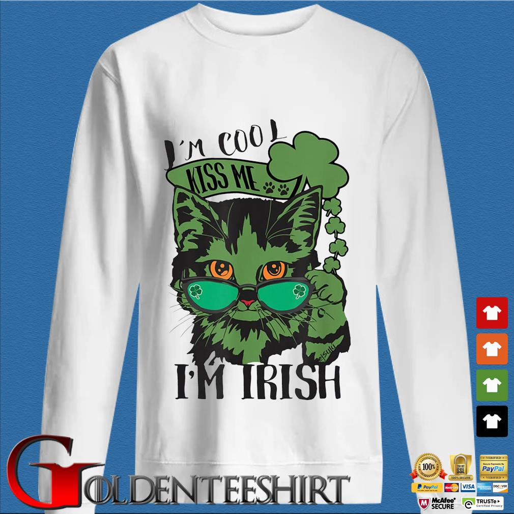Cat I'm cool kiss Me I'm Irish St Patrick's Day s trang Sweater