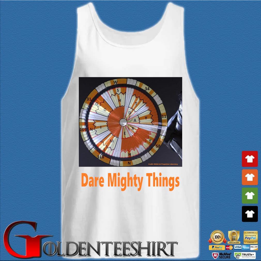 Credit Nasa dare mighty things Tank top trắng