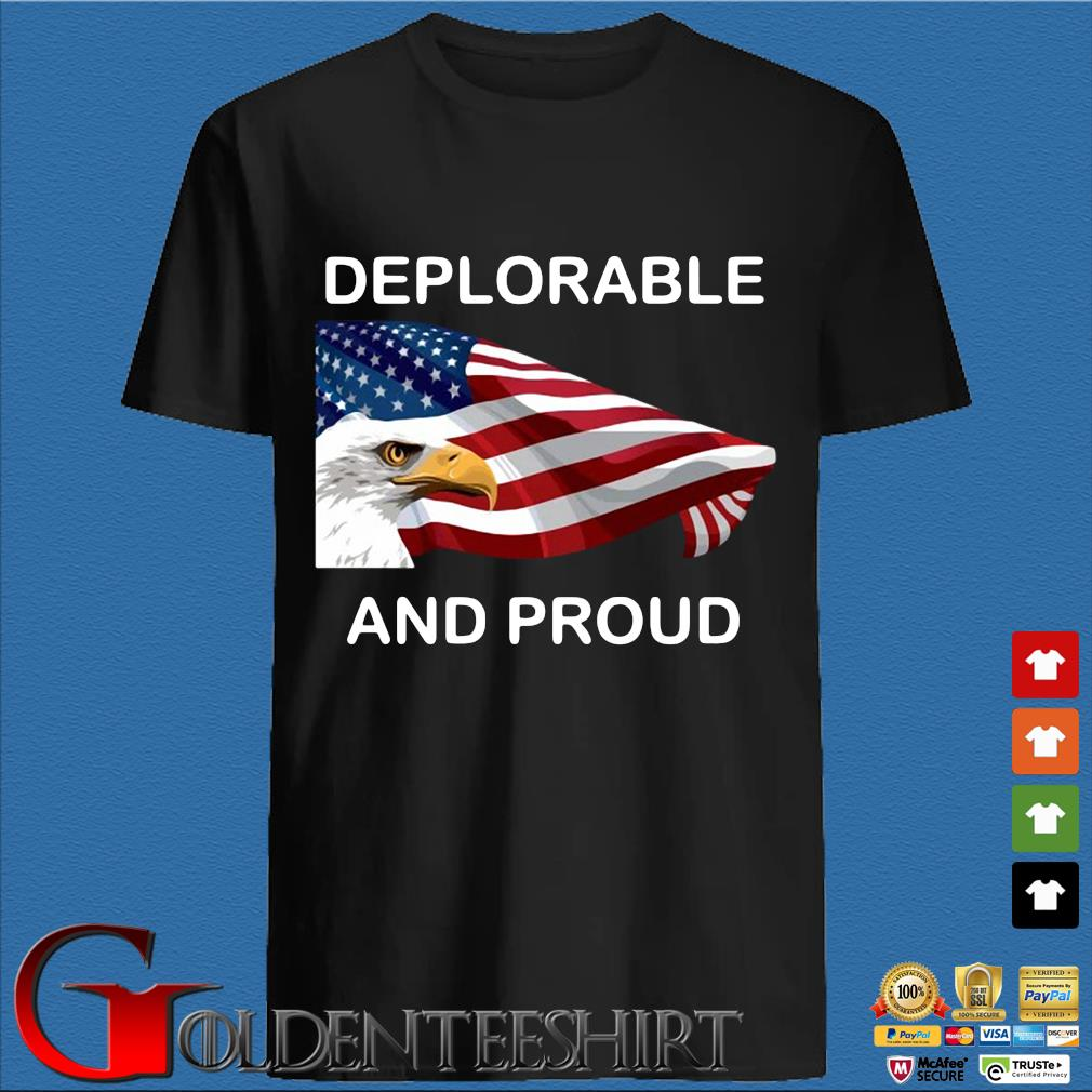 Eagles American flag deplorable and proud shirt