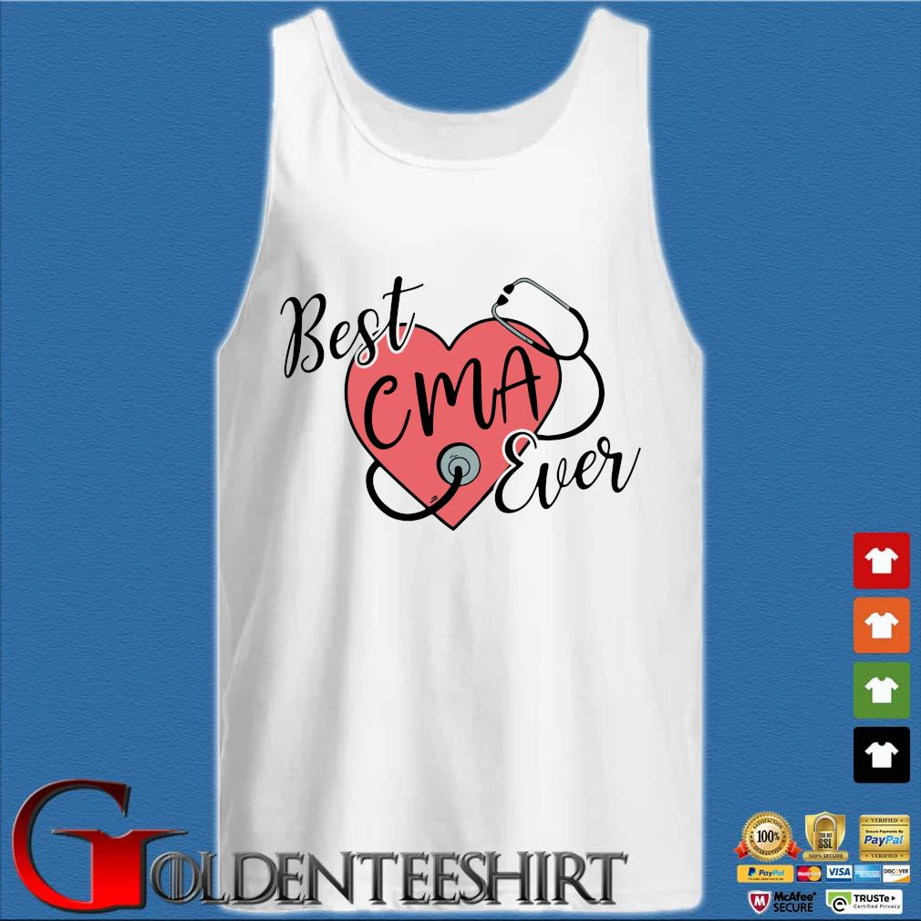 Heart Stethoscope best CMA ever s Tank top trắng