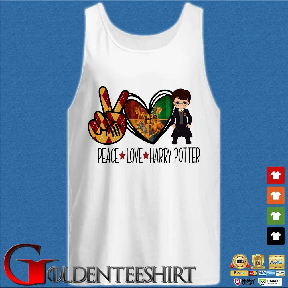 Peace love Harry Potter s Tank top trắng