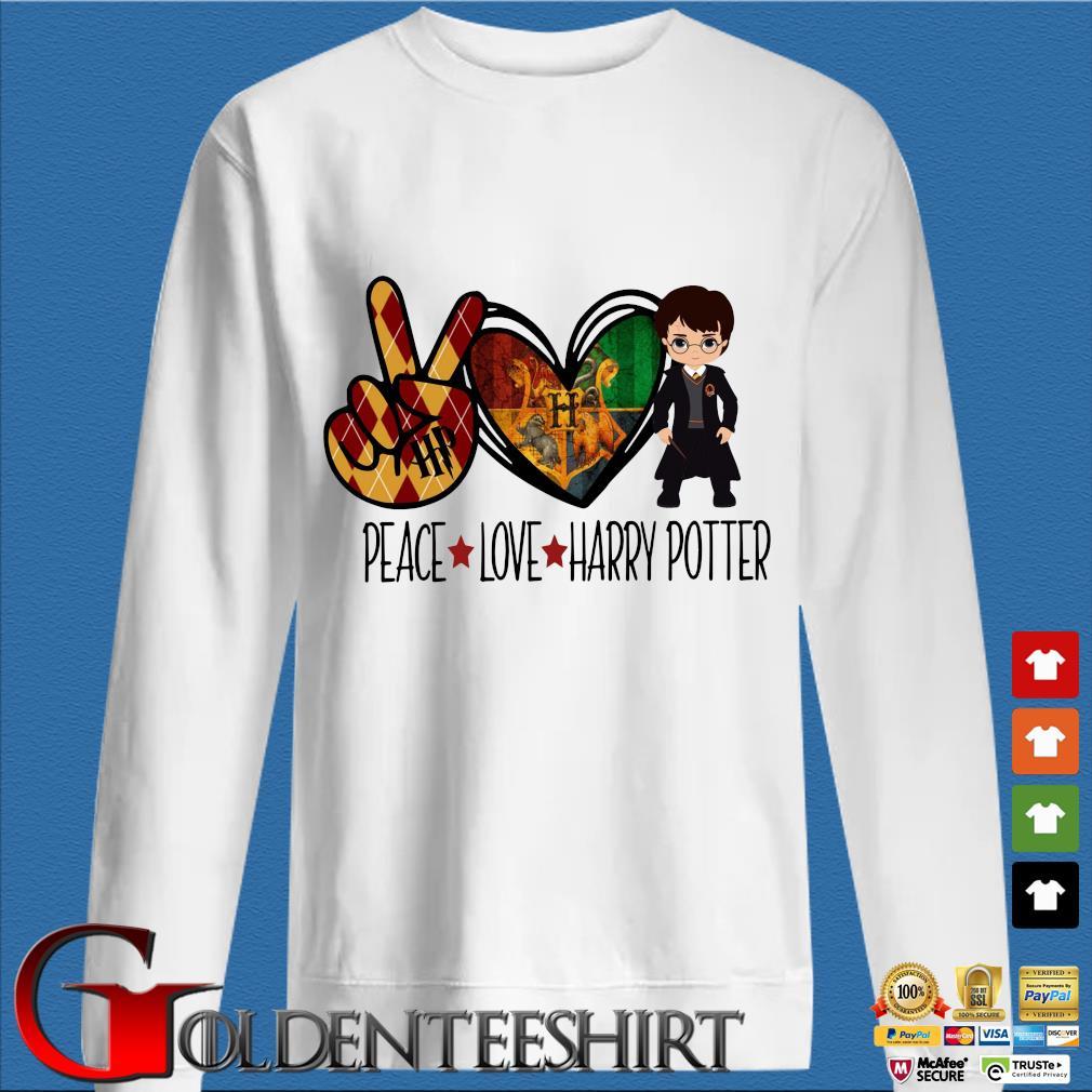 Peace love Harry Potter s trang Sweater