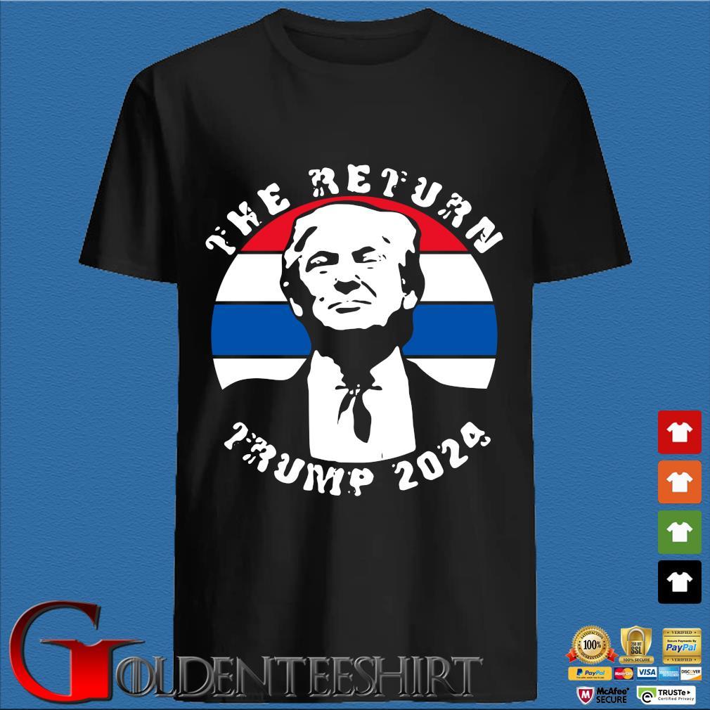 The return Trump 2024 American flag shirt