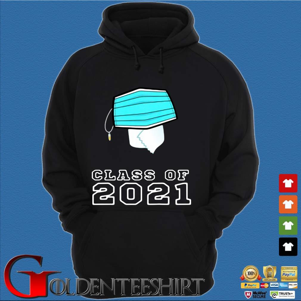 Toilet paper face mask class of 2021 Hoodie đen
