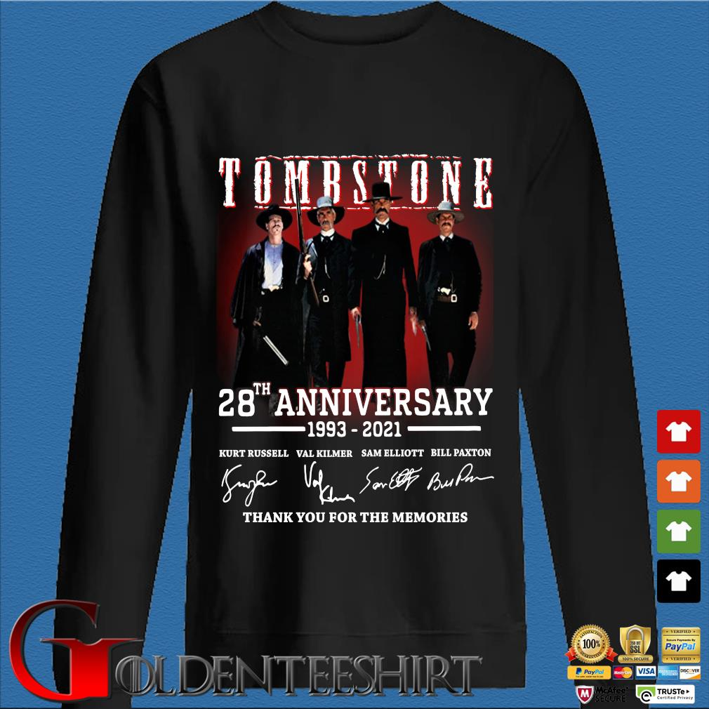Tomb Stone 28th anniversary 1993-2021 thank you for the memories signatures Den Sweater