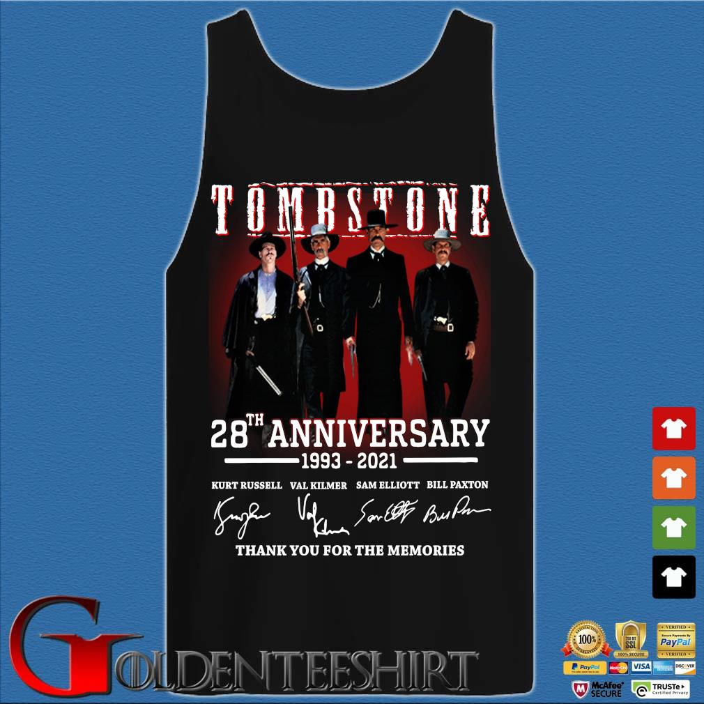 Tomb Stone 28th anniversary 1993-2021 thank you for the memories signatures Tank top den