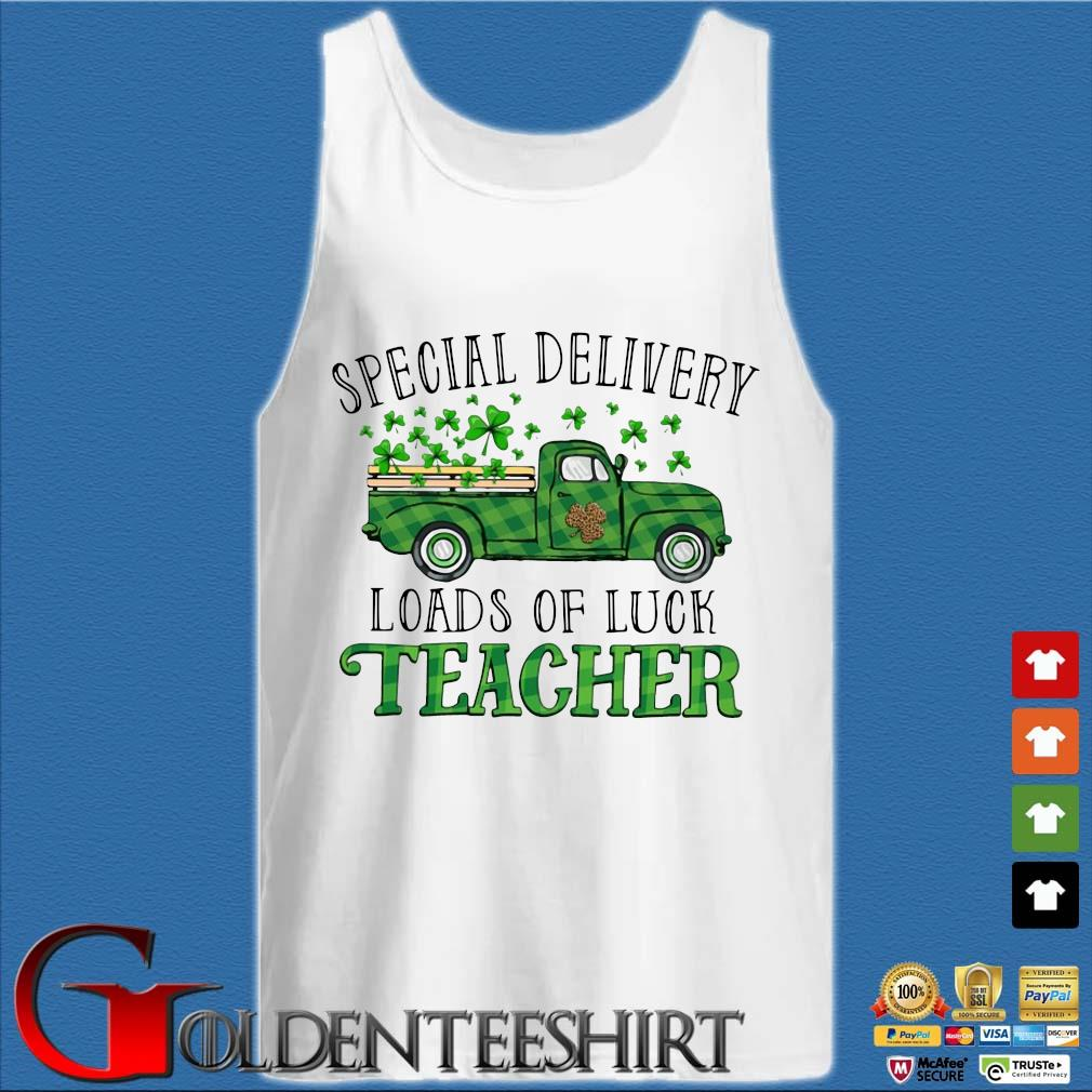 Truck special delivery loads of luck teacher St Patrick's Day s Tank top trắng