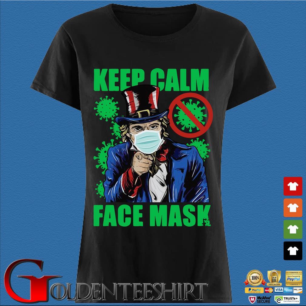 Uncle Sam keep calm face mask St Patrick's Day Den Ladies