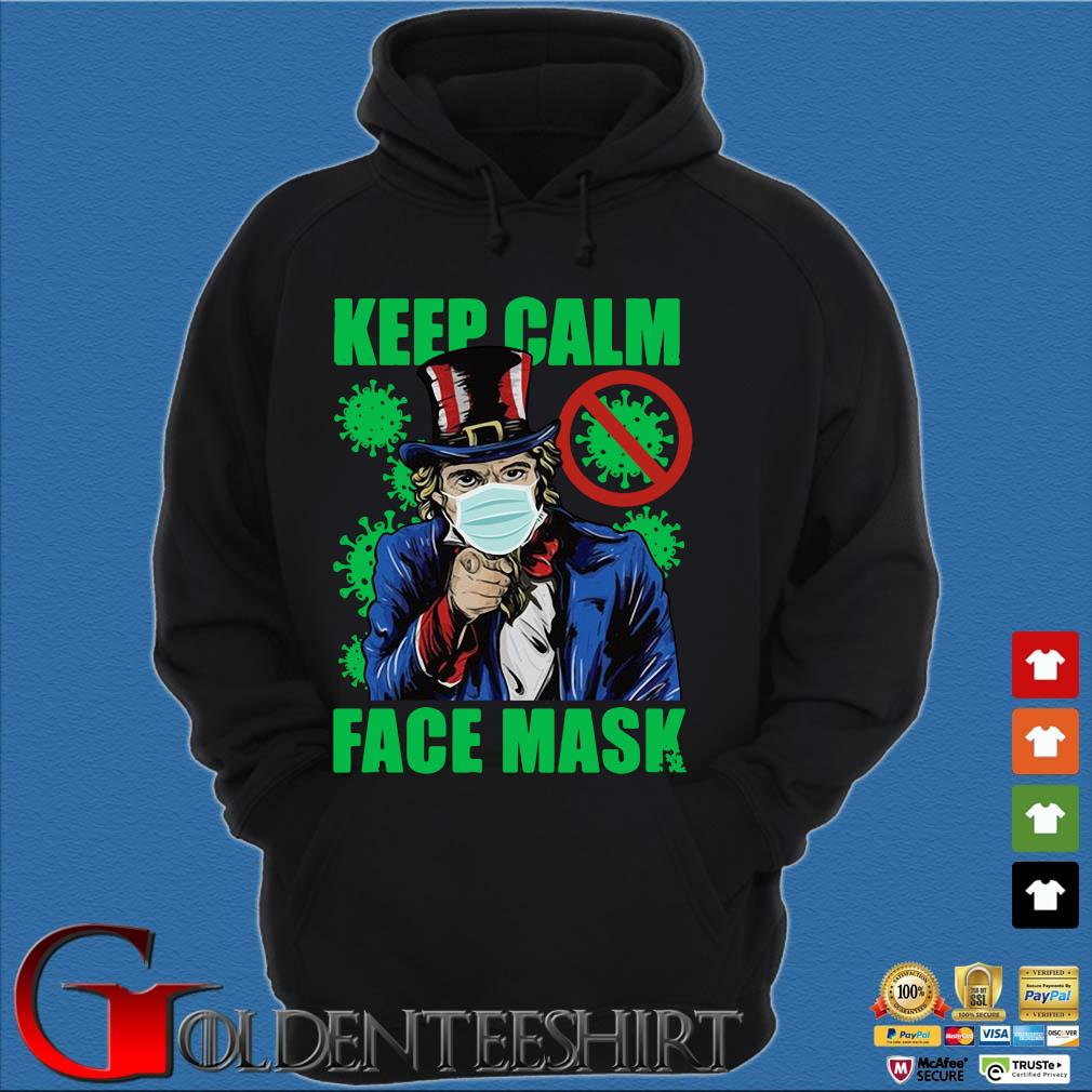 Uncle Sam keep calm face mask St Patrick's Day Hoodie đen