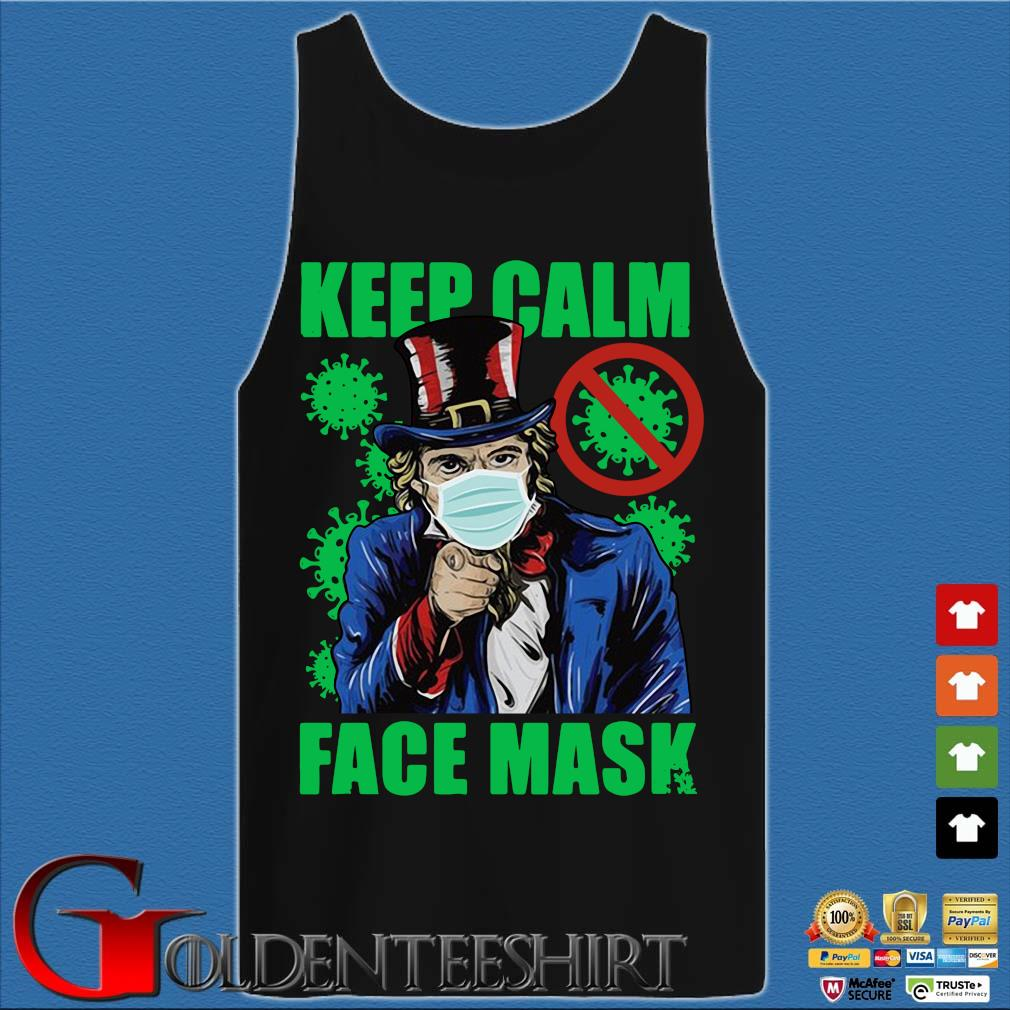Uncle Sam keep calm face mask St Patrick's Day Tank top den