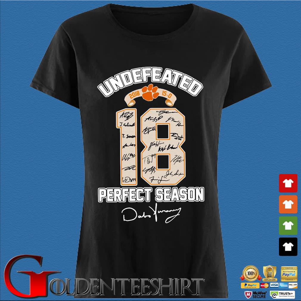 18 Cleveland Browns Undefeated Perfect Season Signatures Shirt Den Ladies
