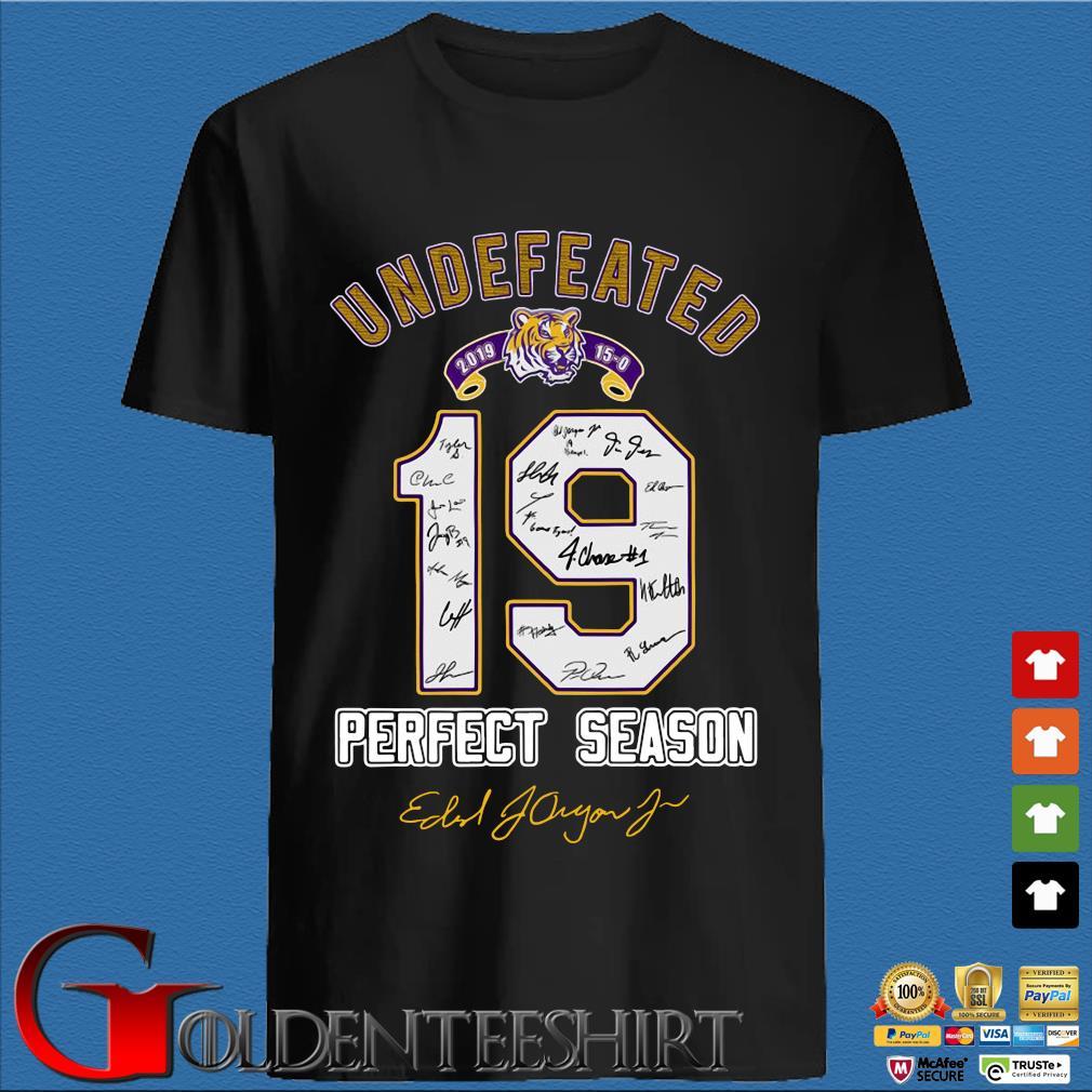 19 LSU Tigers Undefeated Perfect Season Signatures Shirt