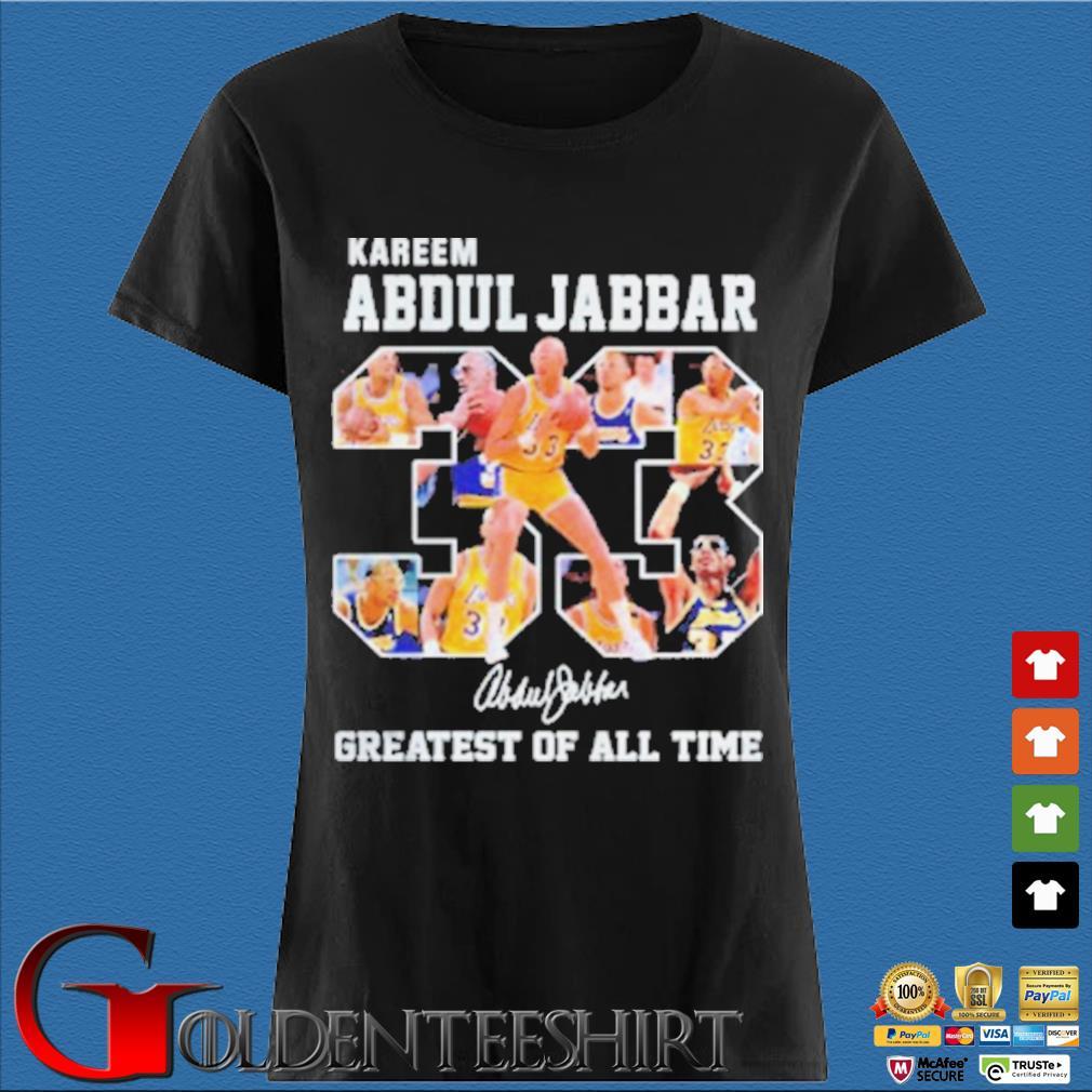 33 Kareem Abdul Jabbar Signature Greatest Of All Time Shirt Den Ladies