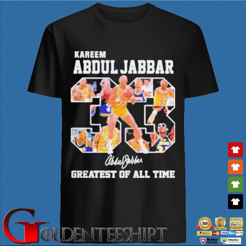 33 Kareem Abdul Jabbar Signature Greatest Of All Time Shirt