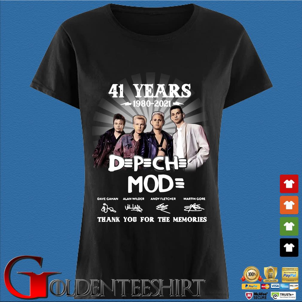 41 Years 1980 2021 Of The DPCH MOD Signatures Thank You For The Memories Shirt Den Ladies
