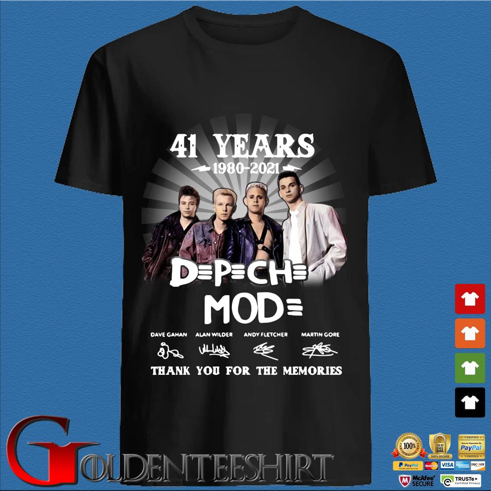 41 Years 1980 2021 Of The DPCH MOD Signatures Thank You For The Memories Shirt