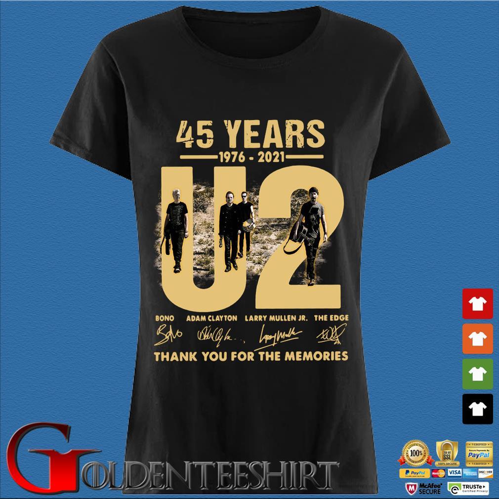 45 years 1976-2021 U2 Bono Adam Clayton thank you signatures Den Ladies