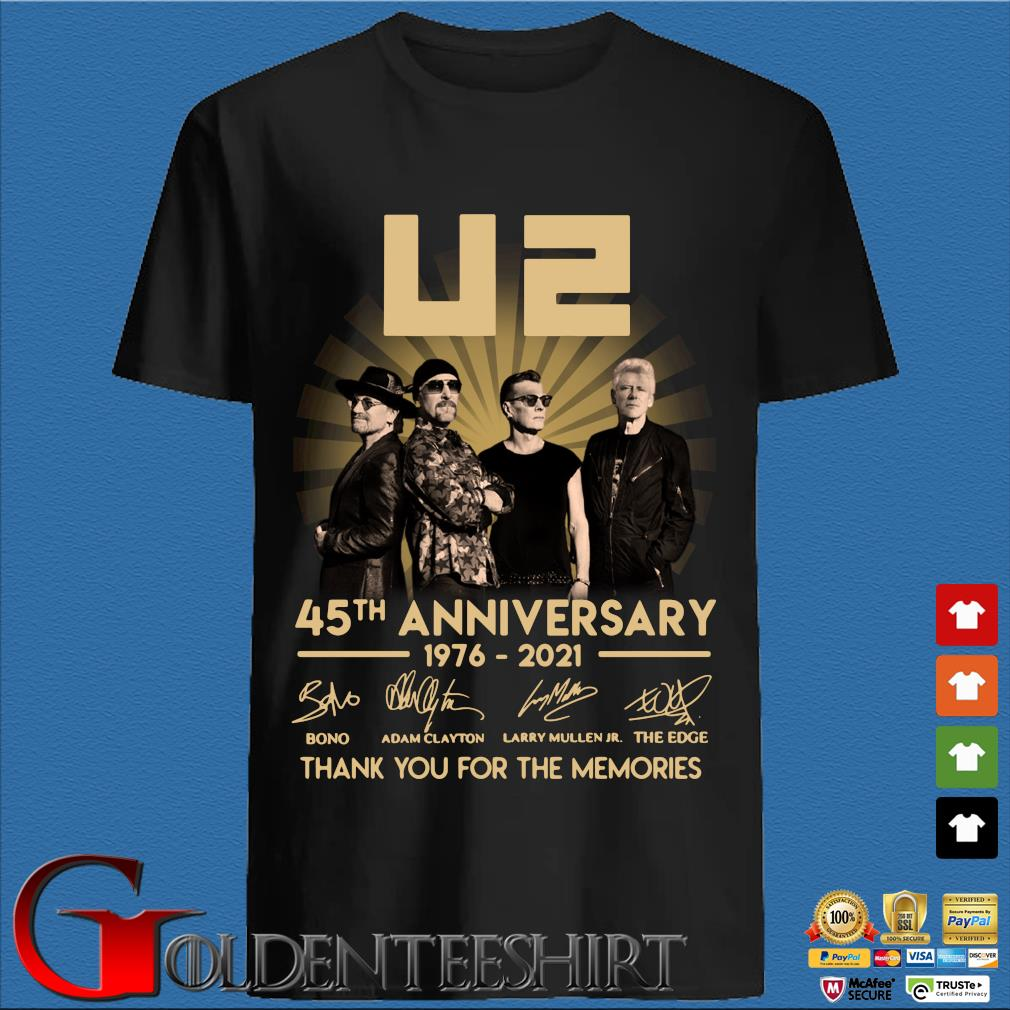 45th Anniversary U2 1976-2021 Signatures Thank You For The Memories Shirt