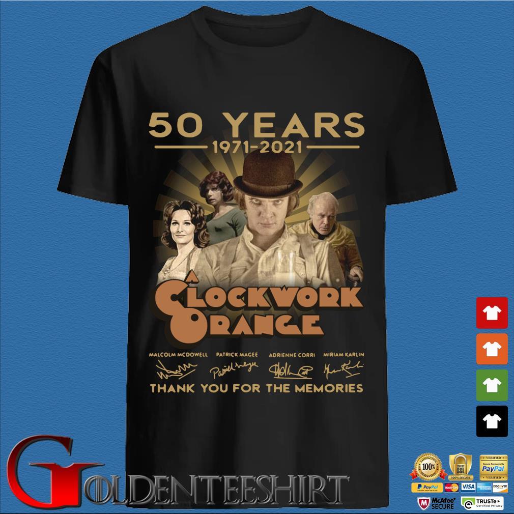 50 years 1971-2021 Clockwork Orange thank you for the memories signatures shirt