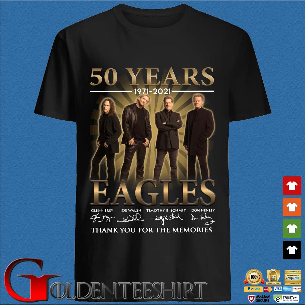 50 years 1971 2021 Eagles signatures thank you for the memories shirt