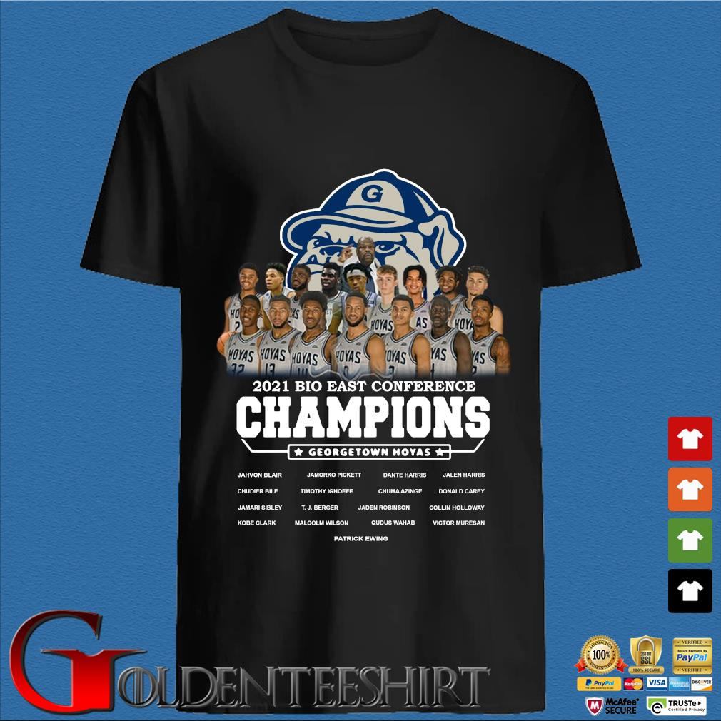 2021 Bio East Conference Champions Georgetown Hoyas Shirt