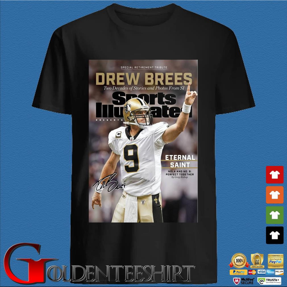 9 Drew Brees New Orleans Saints Signature Two Decades Of Stories And Photos From SI Shirt (1)
