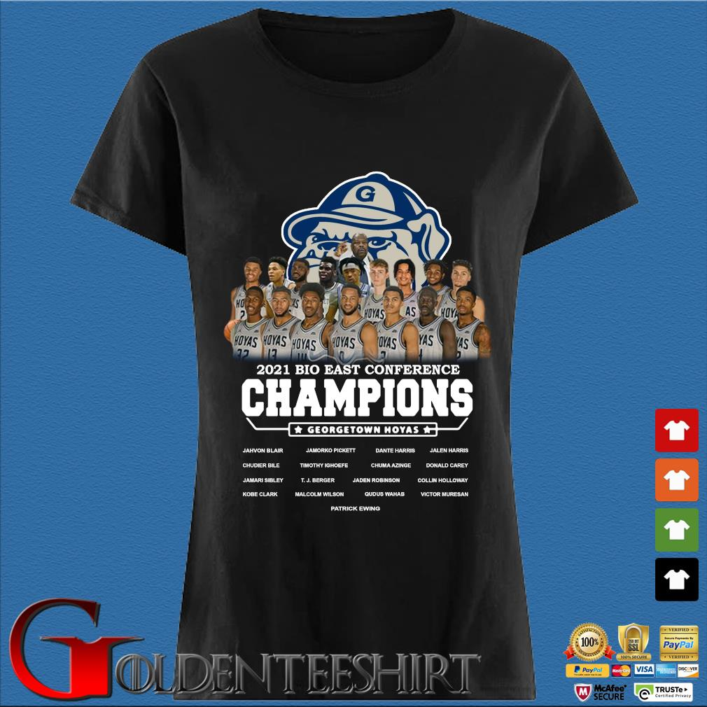 2021 Bio East Conference Champions Georgetown Hoyas Shirt Den Ladies