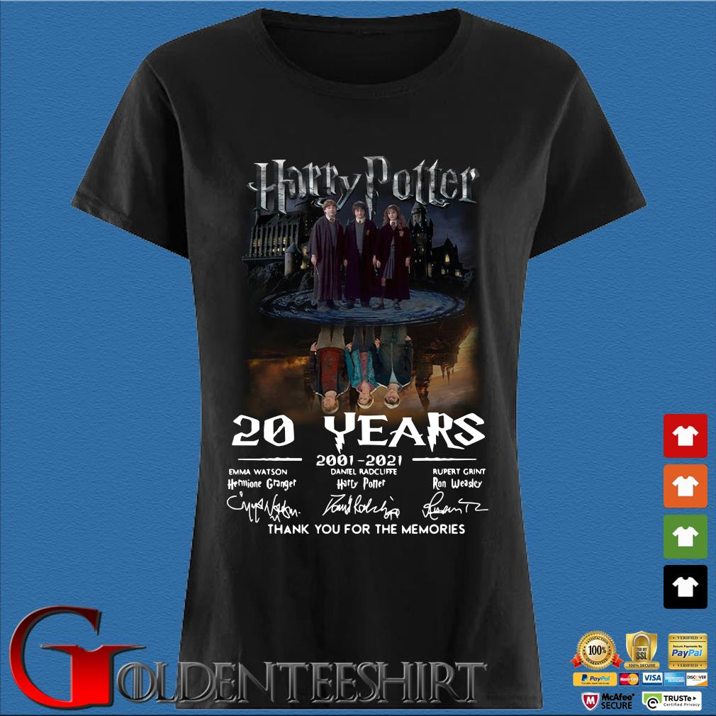Harry Potter water reflection 20 years 2001-2021 thank you for the memories signatures Den Ladies
