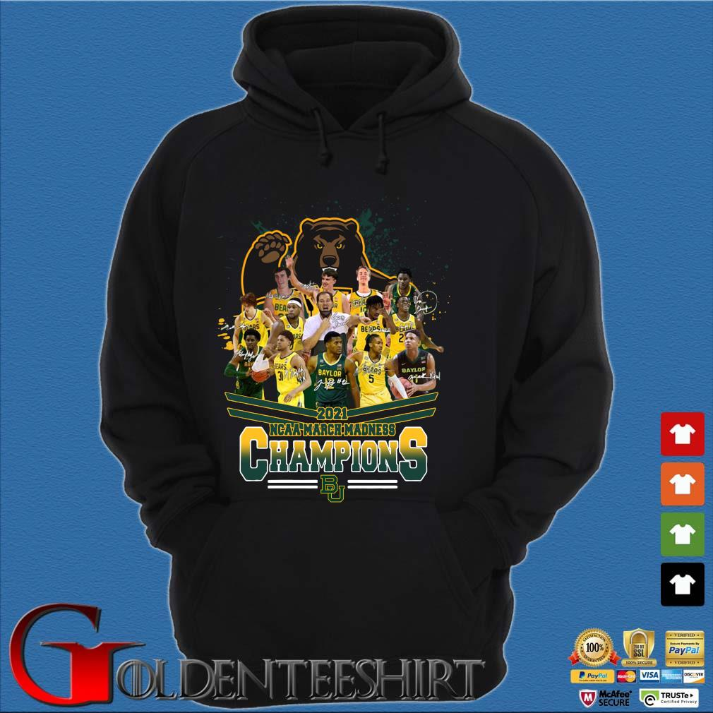 2021 NCAA March Madness Champions Baylor University Signatures Hoodie đen