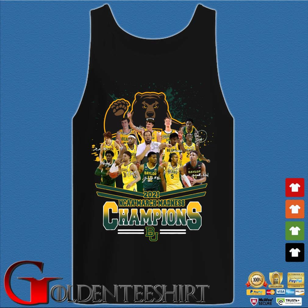 2021 NCAA March Madness Champions Baylor University Signatures Tank top den