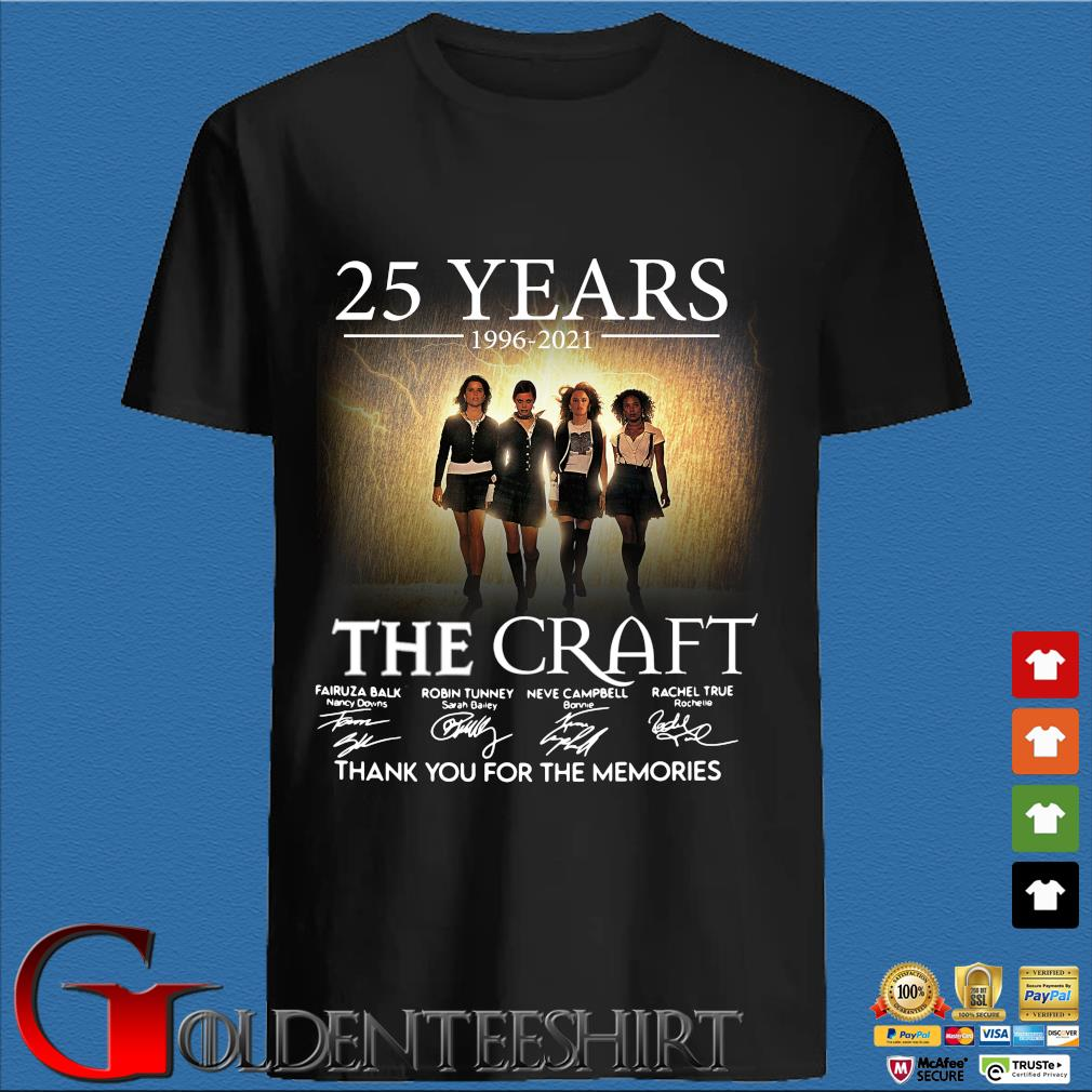 25 Years 1996 2021 Of The Craft Signatures Thank You For The Memories Shirt