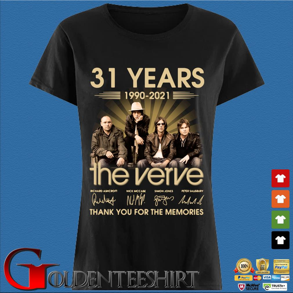 31 years 1990-2021 The Verve thank you for the memories signatures Den Ladies