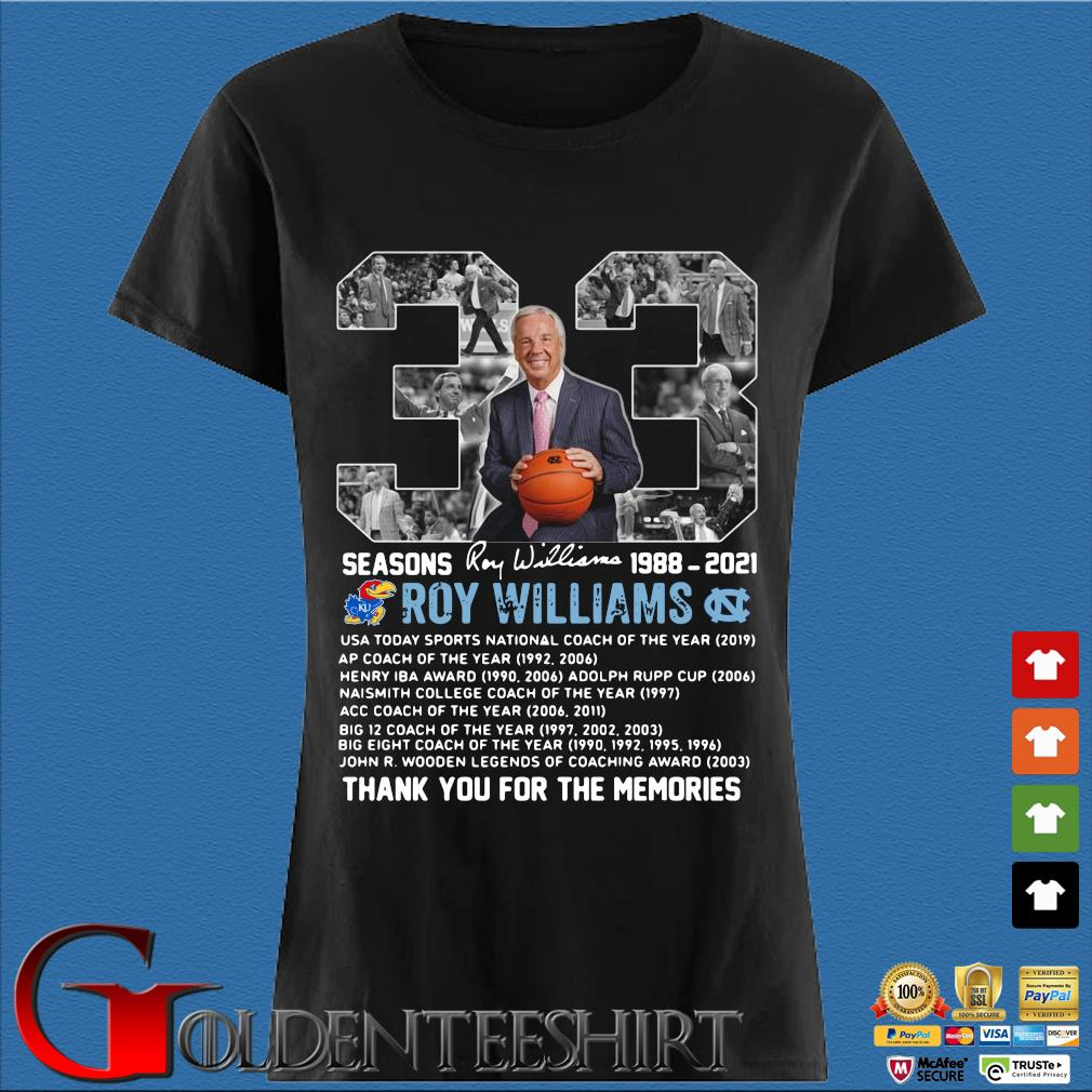 33 seasons 1988-2021 Roy Williams thank you for the memories signature Den Ladies