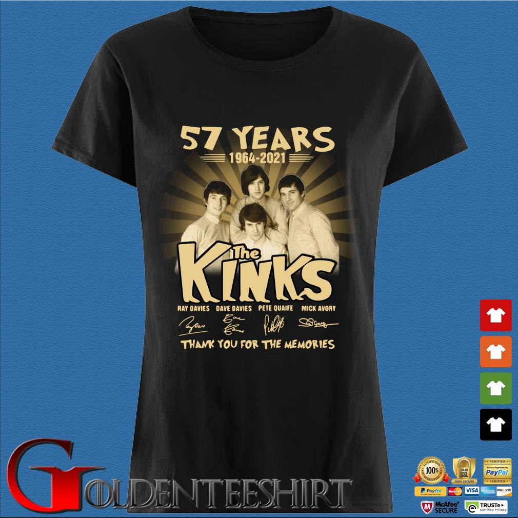 57 years 1964-2021 The Kinks thank you for the memories signatures Den Ladies