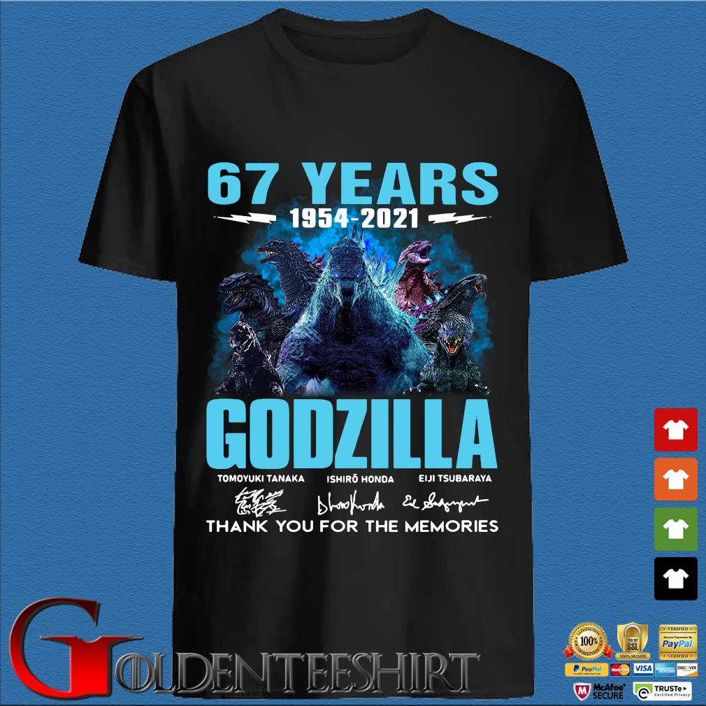 67 years 1954-2021 Godzilla thank you for the memories signature