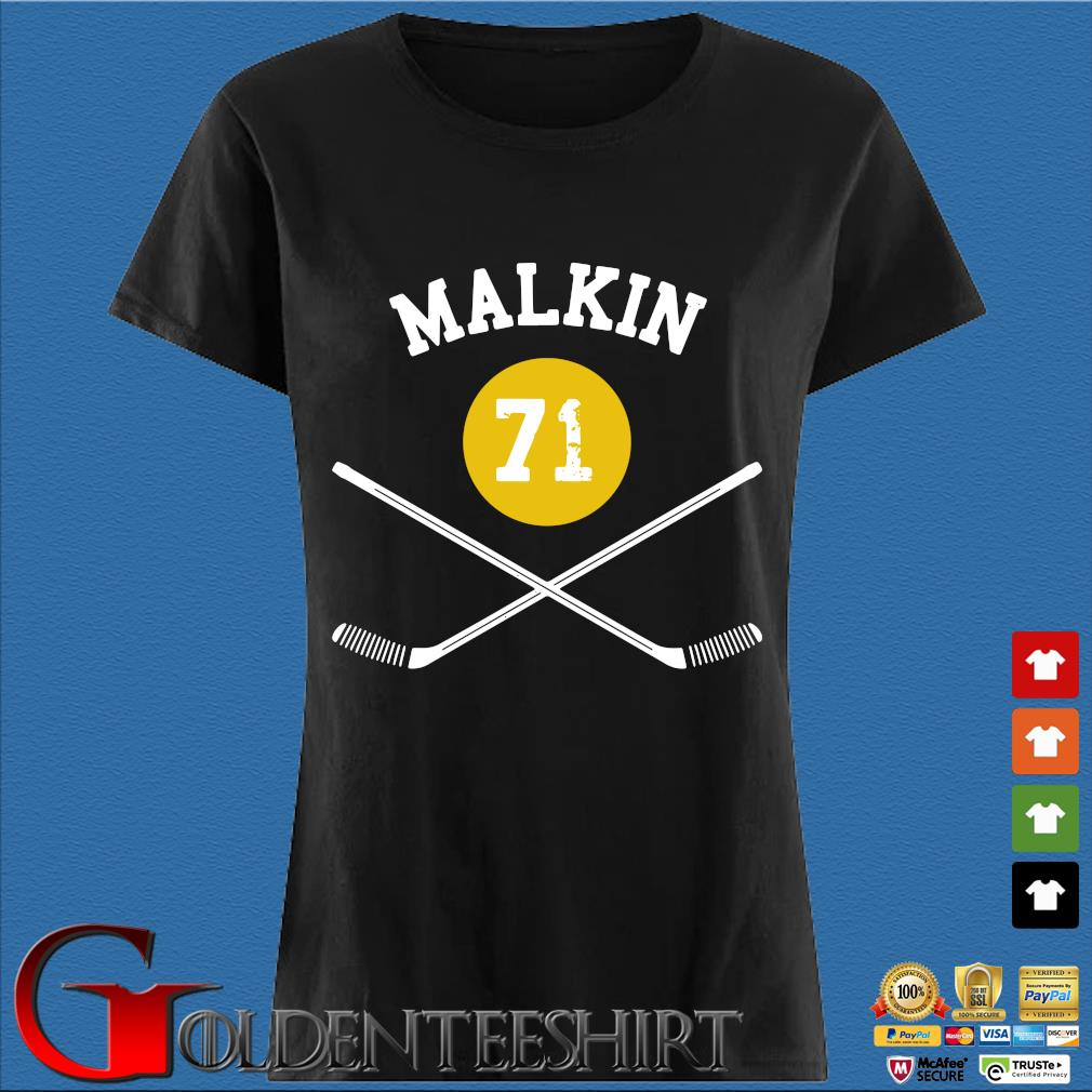 71 Evgeni Malkin Pittsburgh Sticks Shirt Den Ladies