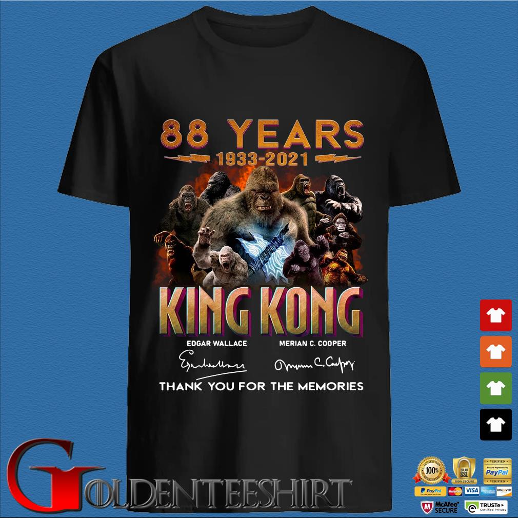 88 Years 1933 2021 King Kong Signatures Thank You Shirt