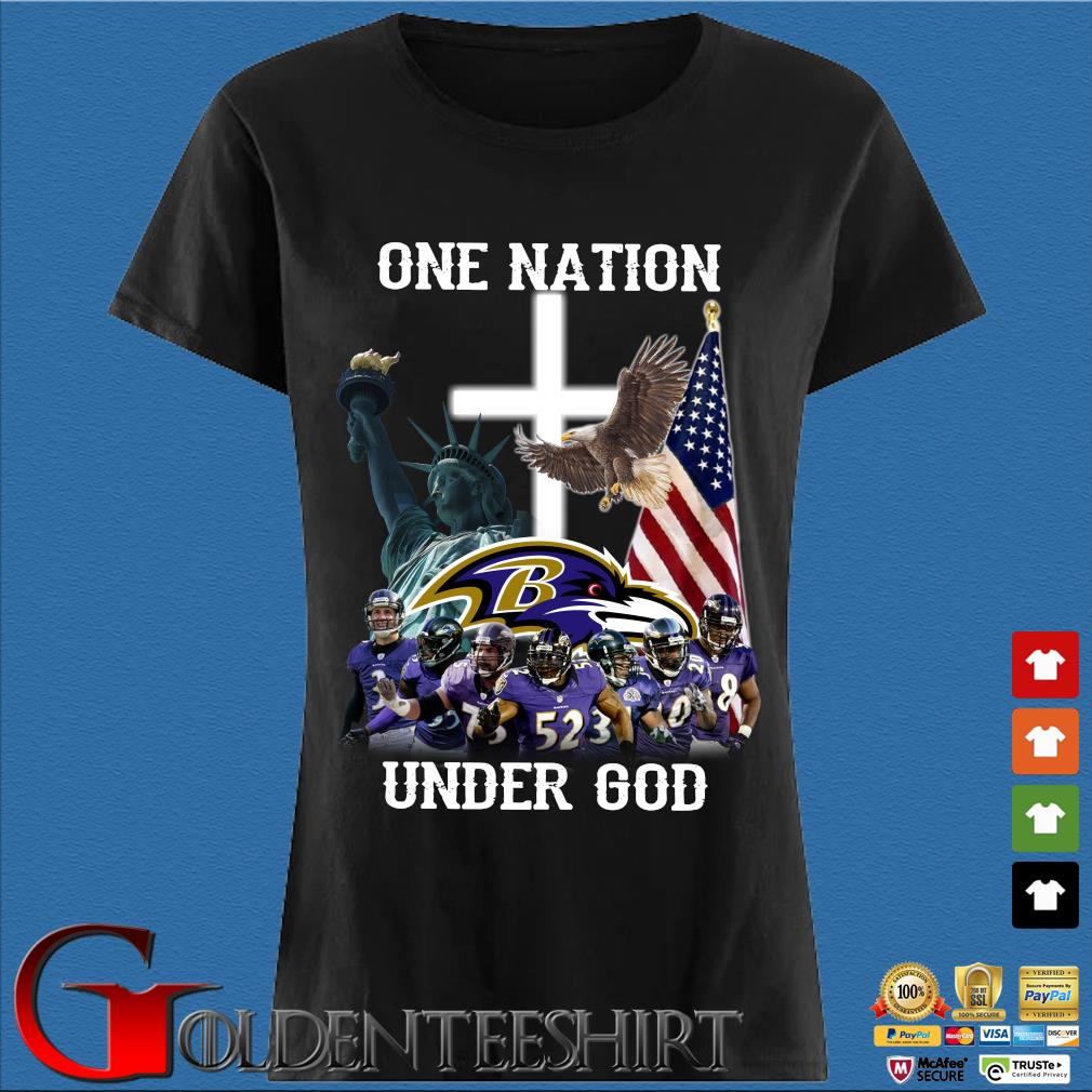 Baltimore Ravens One Nation Under God Shirt Den Ladies