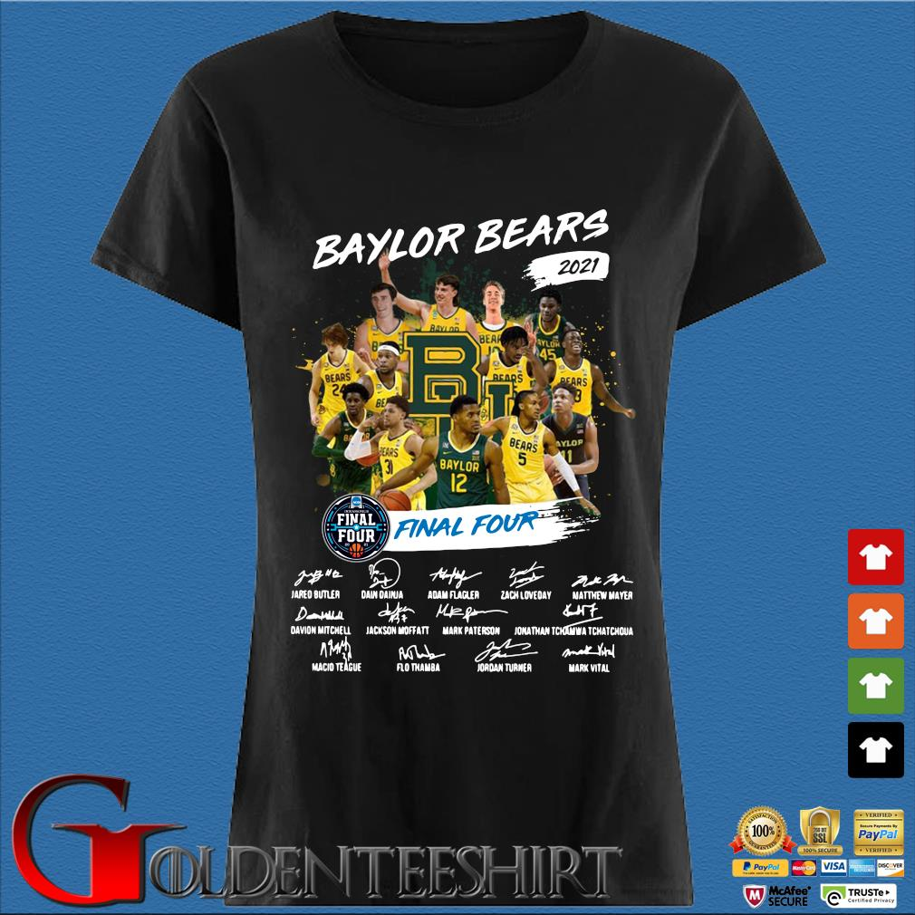 Baylor Bears 2021 Final Four Signatures Shirt Den Ladies