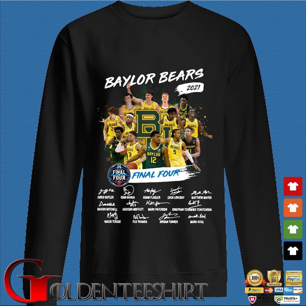 Baylor Bears 2021 Final Four Signatures Shirt Den Sweater