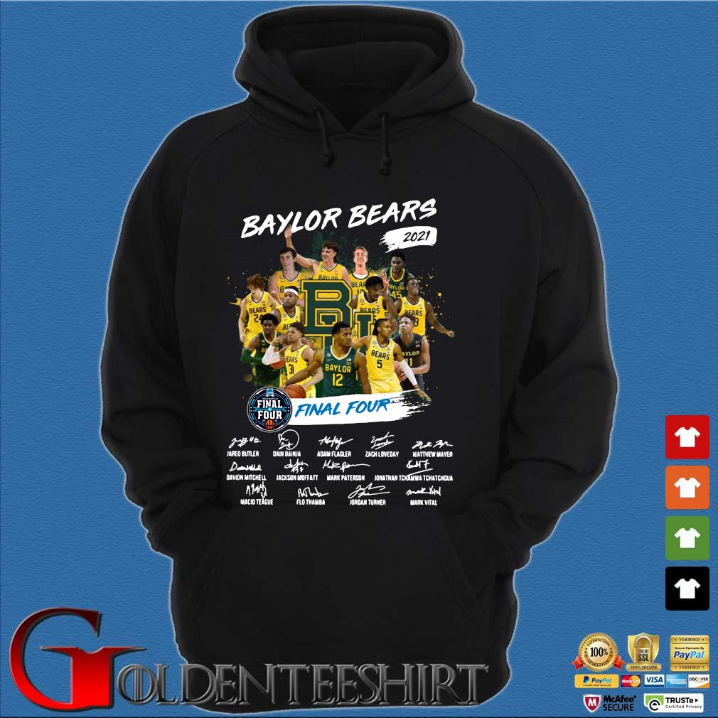 Baylor Bears 2021 Final Four Signatures Shirt Hoodie đen