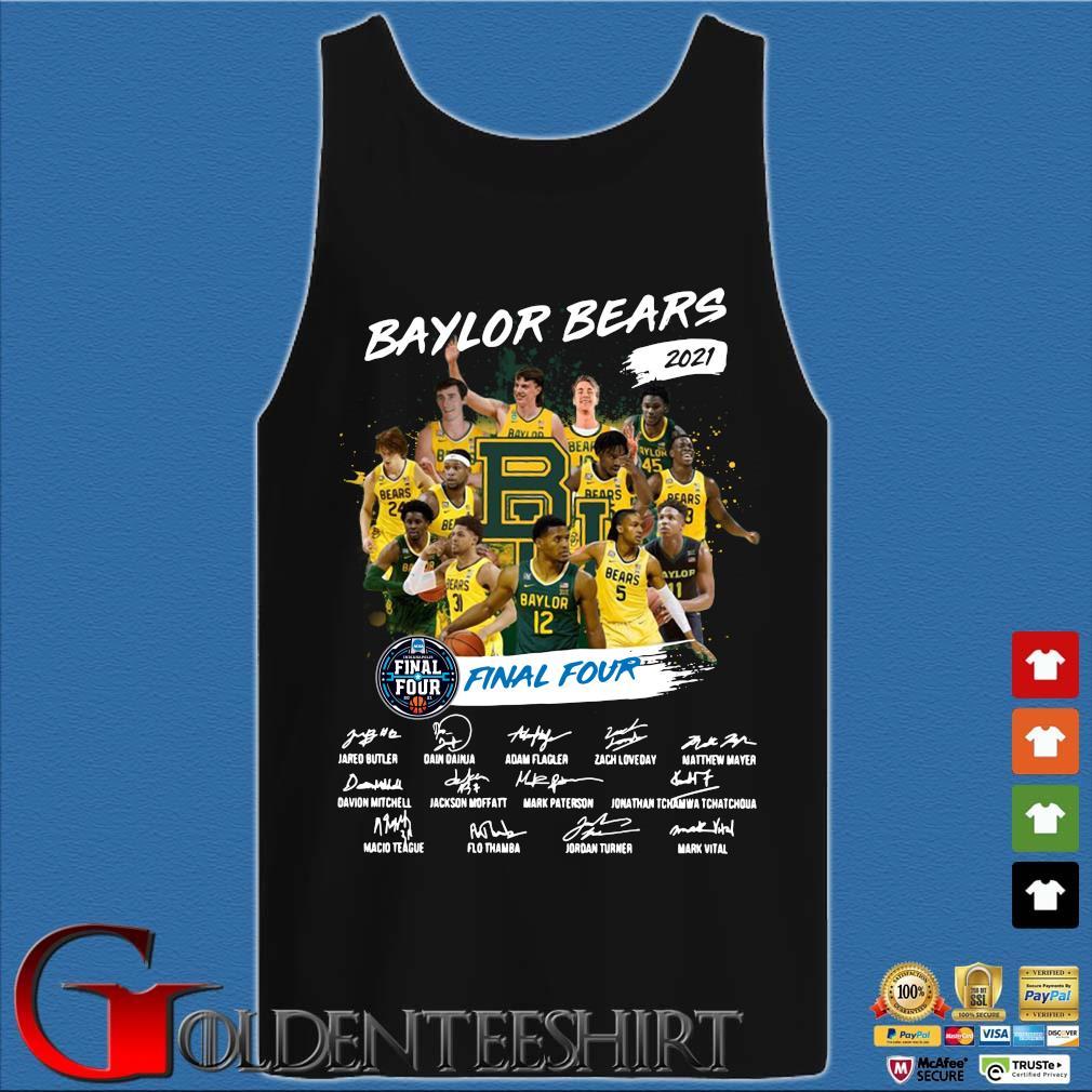 Baylor Bears 2021 Final Four Signatures Shirt Tank top den
