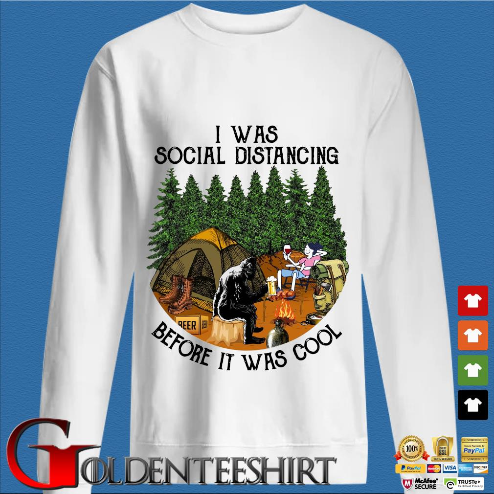 Bigfoot I was social distancing before it was cool camping trang Sweater